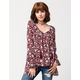 OTHERS FOLLOW Breezy Floral Womens Top