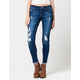 ZCO Frayed Ankle Womens Skinny Jeans