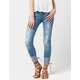 ALMOST FAMOUS PREMIUM Cuffed Womens Skinny Jeans