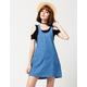 MIMI CHICA Denim Jumper Dress
