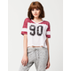 FULL TILT 90 Cropped Womens Jersey Tee