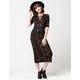 SEA GYPSIES Printed Knit Midi Dress