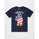 RIOT SOCIETY Merica Party Bear Boys T-Shirt