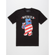 RIOT SOCIETY Merica Party Bear Mens T-Shirt
