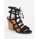 QUPID Caged Ghillie Womens Heels