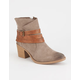 QUPID Wrap Strap Womens Booties