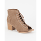 QUPID Peep Toe Lace Up Womens Booties