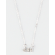 FULL TILT Rhinestone Tri Arrow Necklace