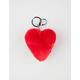 Heart Pom Keychain Bag Charm