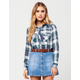 FULL TILT Rayon Boyfriend Womens Plaid Shirt