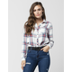 FULL TILT Washed Americana Womens Flannel Shirt