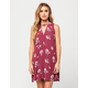 SOCIALITE Floral Keyhole Dress