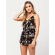 MIMI CHICA Abstract Floral Womens Romper