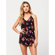 MIMI CHICA Splattered Floral Womens Romper