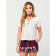 FULL TILT Lace Up Womens Top