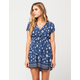 CHLOE & KATIE Floral Surplice Dress