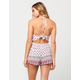 ANGIE Printed Smocked Womens Romper