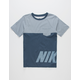NIKE SB Hazard Stripe Boys Pocket Tee
