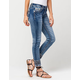 MISS ME Aztec Rolled Cuff Womens Skinny Jeans