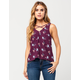 MIMI CHICA Spaced Floral Womens Tank