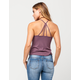 FULL TILT Ribbed Lattice Womens Tank