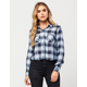 FULL TILT Cropped Womens Plaid Shirt