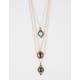 FULL TILT 3 Layer Stone Charm Necklace