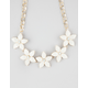 FULL TILT Stone Flower Statement Necklace