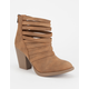 SODA Strappy Cutout Womens Booties