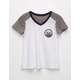 FULL TILT Cali Bear V-Neck Girls Tee