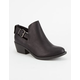 SODA Perforated Cutout Womens Booties