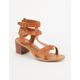BAMBOO Block Heel Womens Sandals