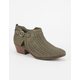 Soda Laser Cut Perforated Womens Booties