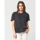 RUSTY Acid Wash Womens Tee