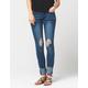 INDIGO REIN High Cuff Womens Skinny Jeans