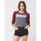 YOUNG & RECKLESS Come Thru Womens Cropped Raglan Tee