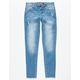 SCISSOR Raw Hem Girls Skinny Jeans