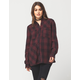 SEA GYPSIES Emery Womens Flannel Shirt