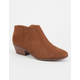 SODA Faux Suede Womens Booties