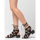 WILD DIVA Lace Up Block Heel Womens Sandals