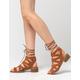 WILD DIVA Lace Up Block Heel Womens Sandals