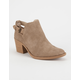 QUPID Perforated Cutout Womens Booties
