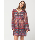 PATRONS OF PEACE Multi Print Lace Up Dress