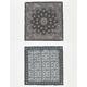 2 Pack Geometric/Bandana Print Scarf