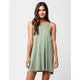 SOCIALITE High Neck Swing Dress