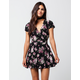 FULL TILT Vintage Floral Wrap Dress