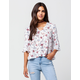 GYPSIES & MOONDUST Wallpaper Floral Womens Top