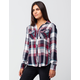 FULL TILT Americana Womens Plaid Shirt