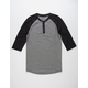 BIRCH BLACK Raglan Mens Henley
