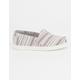 TOMS Todders Mini Stripe Textile Classic Slip-Ons